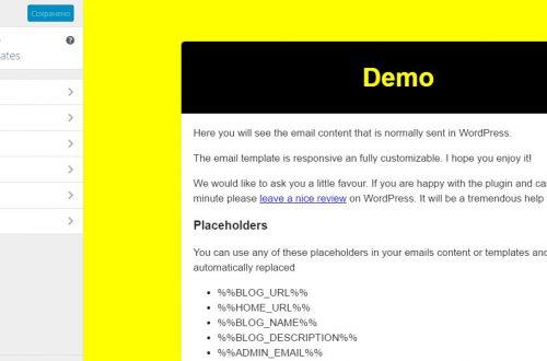 Email Templates изменить шаблон писем WordPress