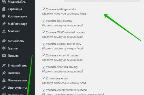 Настройка оптимизация защита сайта плагин WordPress