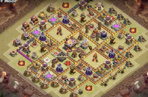 Clash of Clans: расстановка на базе от TX 3 до TX 11 + башни-бомбежки (Android, iOS)