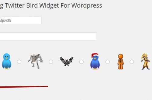 Как добавить на сайт летающую твиттер птичку ?
