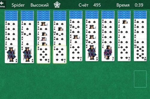 Паук пасьянс 2 масти играть бесплатно онлайн на Windows