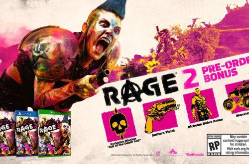 Rage 2 построена на движке Mad Max и Just Cause 3. Известны бонусы за предзаказ