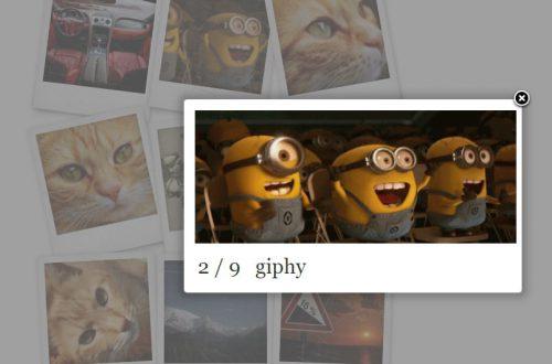 Polaroid галерея CSS3 jQuery плагин WordPress