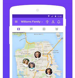Приложение «Семейный трекер» для определения координат