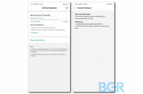 Нашумевший смартфон Oppo Find X получил первое обновление