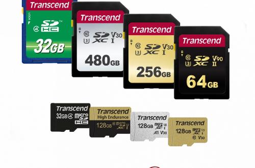 Transcend представила новую широкую линейку карт памяти SD и microSD
