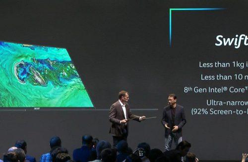 Acer Swift 7, оснащенный экраном 14 дюймов, метит на звание самого легкого и самого тонкого ноутбука в мире