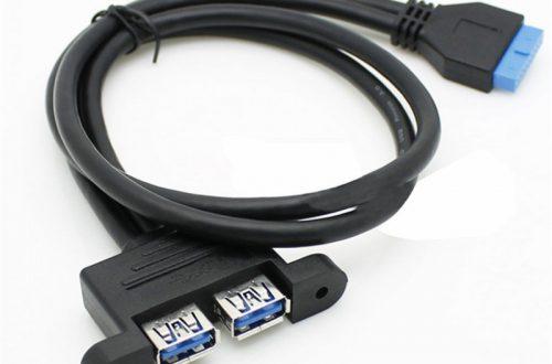Парный USB 3.0 мама - 20 пин кабель для вывода USB 3.0 портов на морду компа  - 30cm 50cm 80cm