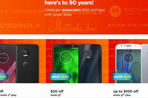 Motorola отмечает 90 лет, скидки на смартфоны достигают нескольких сотен долларов