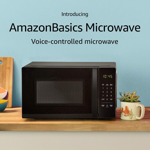 AmazonBasics Microwave — первая в мире микроволновка, управляемая голосом при помощи помощника Alexa