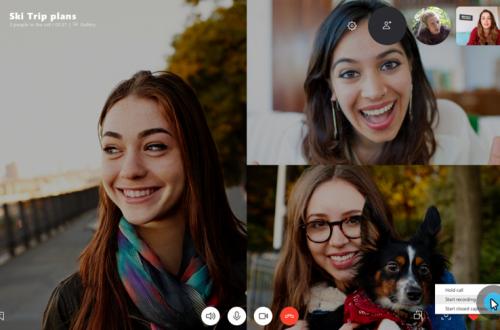 Skype получил функцию записи видеозвонков