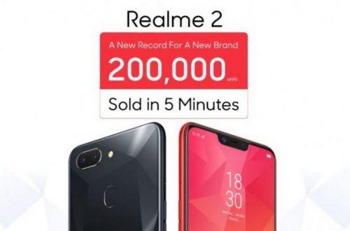 Oppo продала 200 000 смартфонов Realme 2 за 5 минут