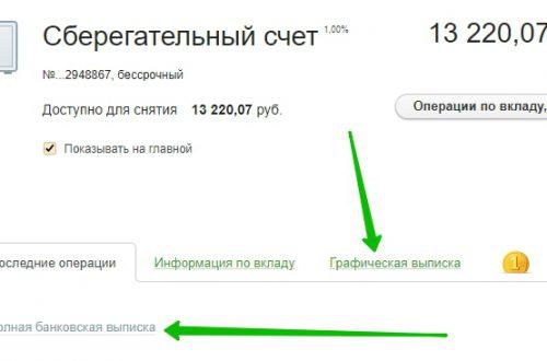 Выписка по карте счёту Сбербанк онлайн как сделать