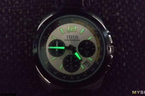 Часы Titus с хронографом. Последствия кварцевого кризиса.
