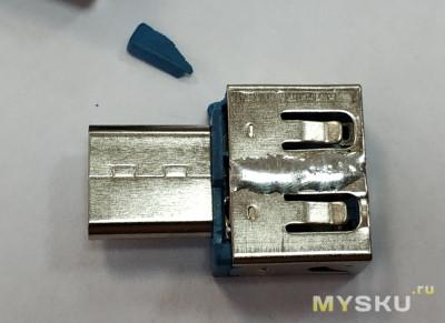 Миниатюрный Type-C OTG адаптер (расчлененка и допилинг)
