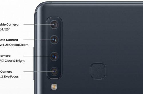Новые изображения показывают четыре тыльных камеры смартфона Samsung Galaxy A9 в подробностях