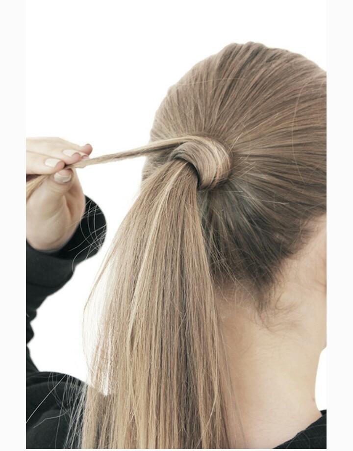 хвост из длинных волос фото