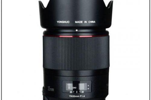 Полнокадровый объектив Yongnuo YN 35mm f/1.4 для зеркальных камер оснащен приводом автоматической фокусировки