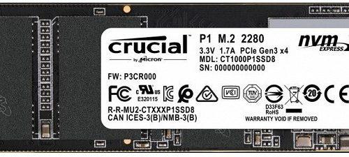 Crucial P1 — первый SSD типоразмера M.2 с поддержкой NVMe, в котором используется память QLC NAND