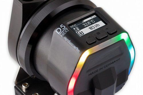 Помпа Aqua Computer D5 Next оснащена контроллером и подсветкой