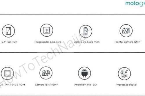 Опубликованы характеристики смартфона Moto G7: очень большой экран, сдвоенная камера и Android 9