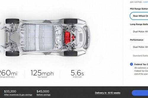 Tesla Model 3 получила высший балл за безопасность в США