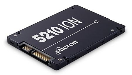 В SSD Micron 5210 ION корпоративного сегмента используется флэш-память QLC NAND
