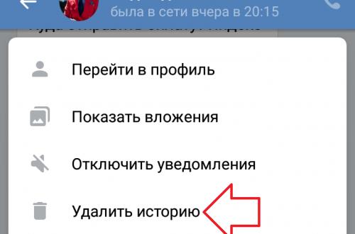 Как удалить историю сообщений в ВК на телефоне