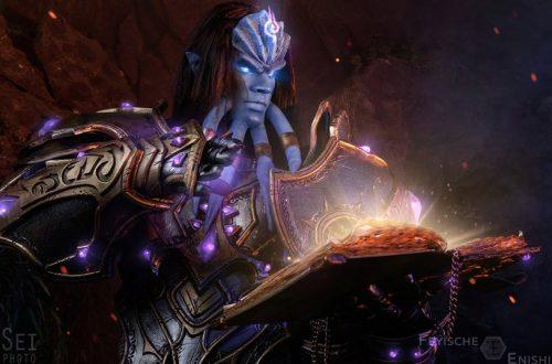 Косплей Воздаятеля Мараада из World of Warcraft