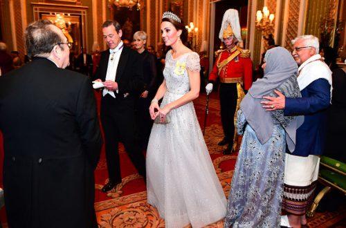 Кейт Миддлтон на прием оделась как невеста