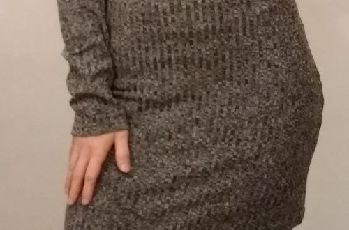 Асимметричное платье-джемпер