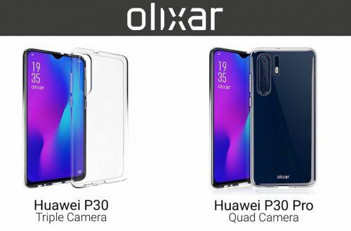 Изображения смартфонов Huawei P30 и P30 Pro демонстрируют основное визуальное отличие между моделями