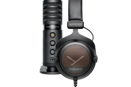 В комплект beyerdynamic Team Tygr вошли игровые наушники Tygr 300 R и профессиональный студийный микрофон Fox