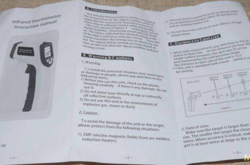 GM320 - Инфракрасный бесконтактный пирометр 12:1
