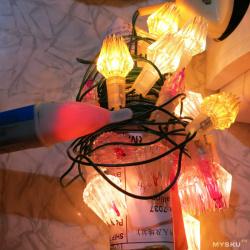 Теплый ламповый обзор ремонта гирлянды - быстрый поиск обрыва и восстановление 4 цветной китайской гирлянды на лампах