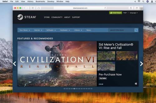 Steam прекращает поддержку OS X 10.10 Yosemite и более ранних версий macOS