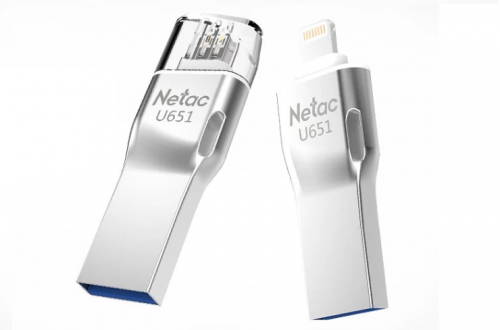 Накопитель Netac U651 (32Gb, USB3.0, Lightning): для iPhone и iPad