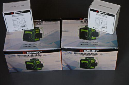 Лазерные уровни Sndway SW-311R, SW-311G, SW-333R и SW-333G