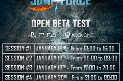 Jump Force - Время проведения открытого тестирования
