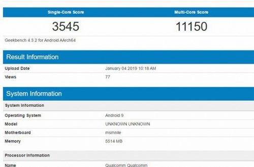 Очередной тест флагманской платформы Snapdragon 855 в Geekbench демонстрирует противоречивый результат
