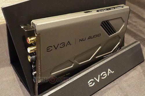 Звуковая карта EVGA NU-Audio на процессоре XMOS xCORE-200 оснащена ЦАП AK4493 и АЦП AK5572, но не обошлось и без полноцветной подсветки