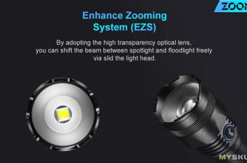 Lumintop Zoom1 с изменяемой фокусировкой луча