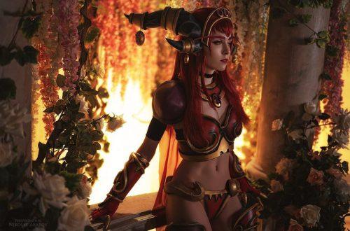 Российский косплей Алекстразы из World of Warcraft