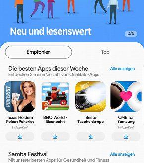 «Галактический магазин»: Samsung обновила свой магазин приложений и игр, дав ему новый интерфейс и новое имя