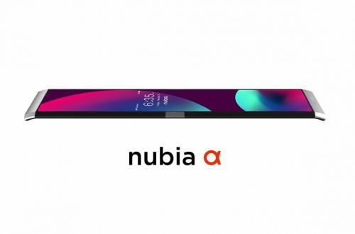 Показан смартфон со сгибающимся экраном Nubia Alpha