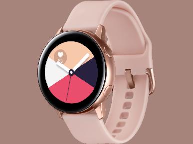 Все цвета умных часов Samsung Galaxy Watch Active и ярко-жёлтые наушники Galaxy Buds в пару к смартфону Galaxy S10e