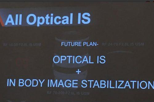 В будущих камерах системы Canon EOS R появится стабилизатор изображения