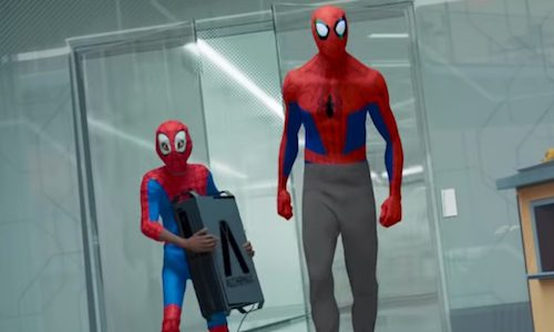Удаленная сцена из «Человека-паука: Через вселенные»