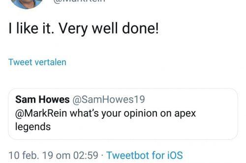 Вице-президент Epic похвалил Apex Legends, но потом удалил твит