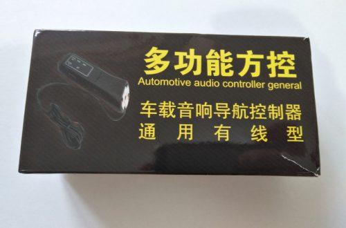 Автомобильный универсальный подрулевой пульт управления магнитолой (головным устройством)